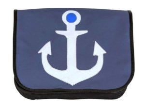 Segeltuchtasche XL Anker blau