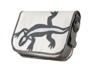 Segeltuchtasche Echse Weiß