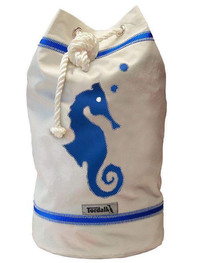 Seepferdchen | weiß / blau
