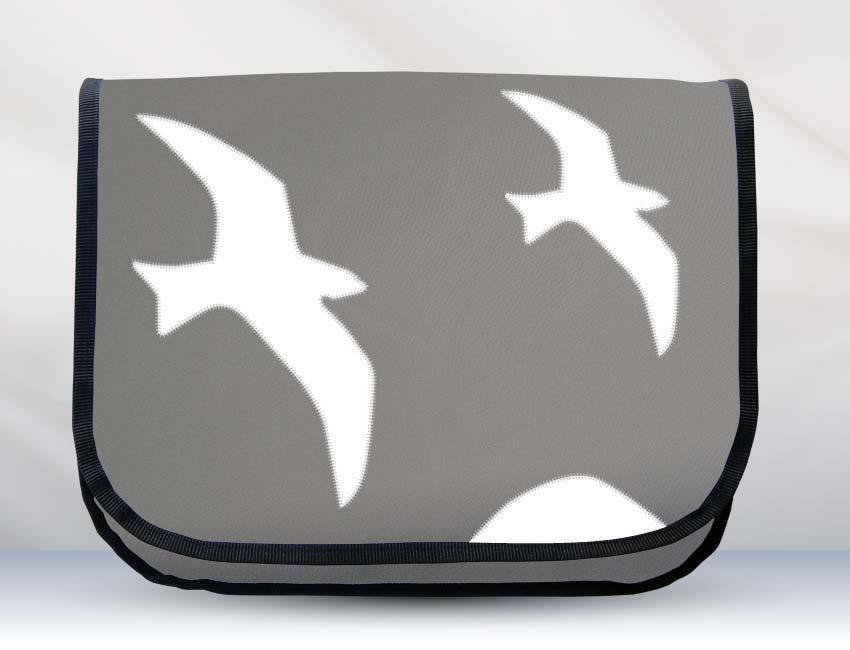 Zwei Möwen grau / weiß