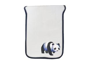 Segeltuchtasche Panda Stickmotiv