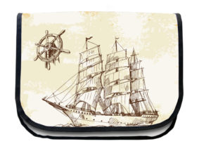 Segeltuchtasche Segelschiff Seite