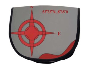Tordalk Segeltuchtasche Grau rot