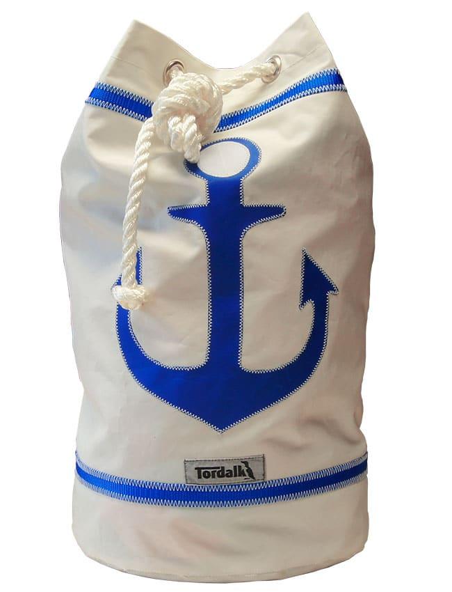 Segeltuchtasche Seesack Anker Weiss